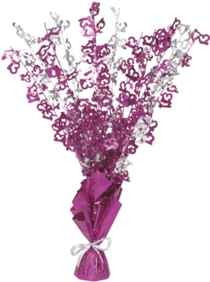 """Birthday Glitz Age 13 Foil Balloon Weight Centrepiece 16.5"""" - Pink"""