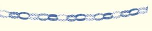 Decorative Dots Navy Blue Paper Chain Garland