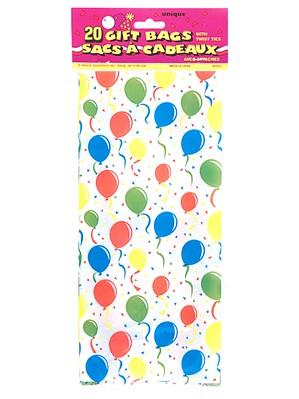 20 Festive Balloons Cello Bags