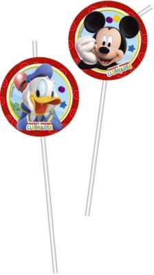 6 Mickey Mouse Clubhouse Flexi Medallion Straws