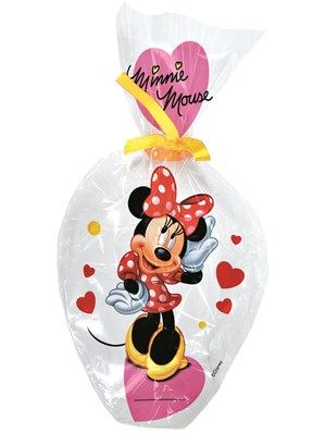 6 Minnie Mouse Plastic Treat Bags