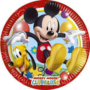 """8 Mickey Mouse Clubhouse 9"""" Paper Plates"""