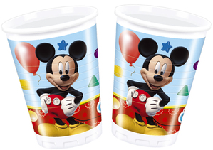 8 Mickey Mouse Clubhouse Plastic Cups