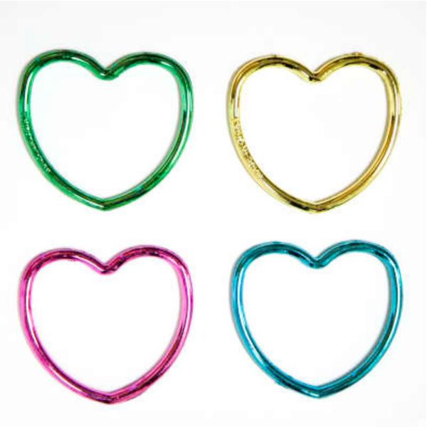 12 Shiny Heart Bracelet Party Bag Fillers
